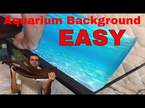 How to attach a background to aquarium