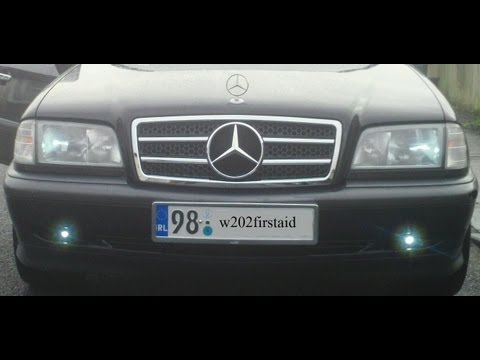 (AMAZING NEW LOOK) how to install new AMG grill on mercedes w202 and review