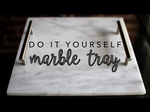 DIY Marble Tray | How to Make