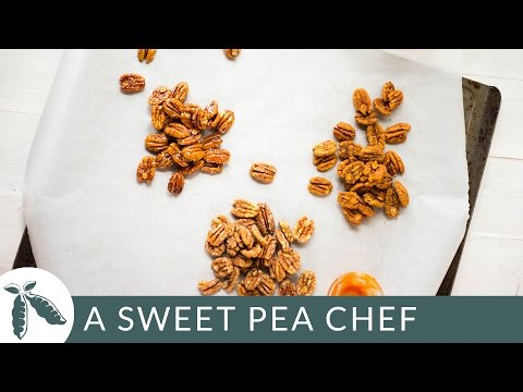 Candied Pecans Three Ways (That Are Totally Healthy!) | A Sweet Pea Chef