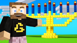 Celebrating Hanukkah in Camp Minecraft!