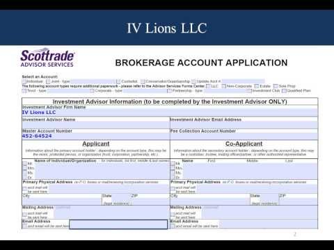Brokerage Account Application Form