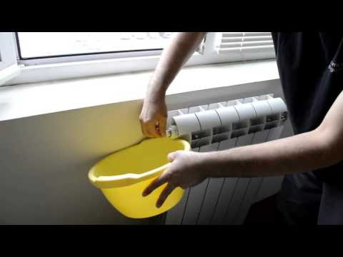 How to clean the air from a home heating (hot water) radiator