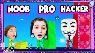 Schaffe ich NOOB vs PRO vs HACKER in der STACK COLORS! APP!? 💜 Alles Ava Gaming