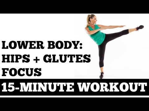 15 Minute Lower Body Workout with a Hips, Glutes Focus (No Equipment Needed, All Levels)