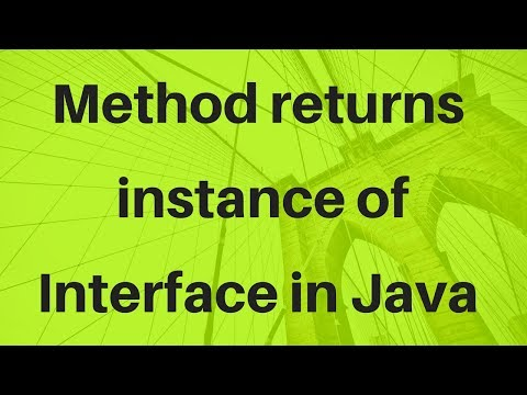 How Method returns instance of Interface in Java?