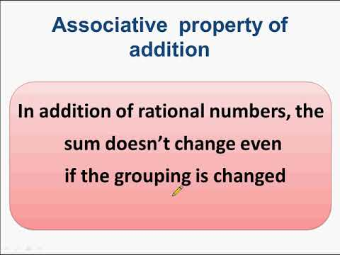 परिमेय संख्या - भाग 12 – Associative property and Rational Number – in Hindi