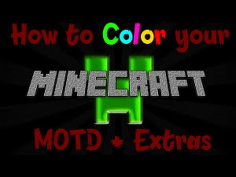 How to do Server properties Good and Color MOTD [1.7.9]