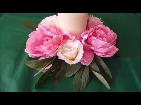 How to make a Flower Wreath Candle centrepiece