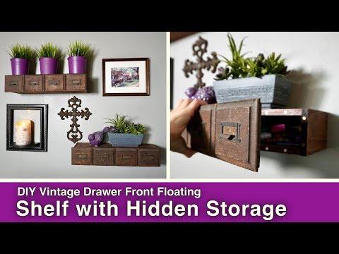 DIY Floating Shelf with Hidden Storage