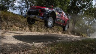 WRC Rally Australia 2018 Day 2 jump & sideways action