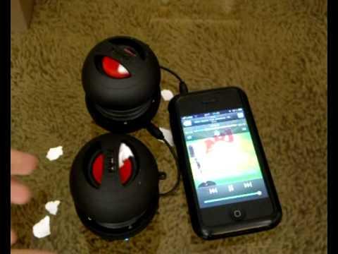 2 броя X-Mini speakers свързани с iPhone - картонен тест :) - Paper test