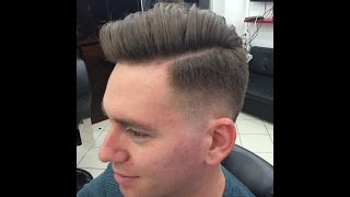 Salon Kadir Unisex Kuaför pompadour technical hair cut en iyi kademeli sıfırlama teknik under cut saç kesimi.Saç Tasarım: Kadir ALKAN .Bu model yanlardan sıfırdan başlayarak kademeli bir şekilde katlı olarak üstlere doğru uzayan bir modeldir.   Videoda kullanılan wax,sprey,fön makinesi vs  https://www.instagram.com/kadiralkanstore/ den elde edebilirsiniz Kullandığımız Ürünler için Sipariş Hattı : Whatsapp 0532 297 66 36   2016 erkek saç modeli 2016 men