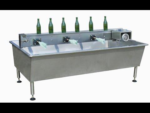 semi auto brush washing machine for glass bottles, beer bottles, alcohol drinks