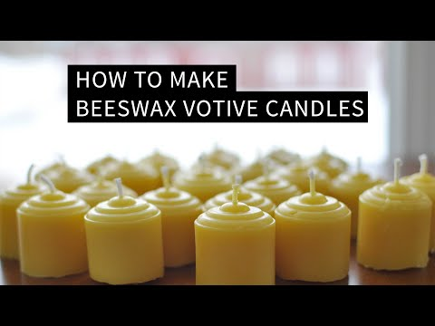 How To Make Beeswax Votive Candles
