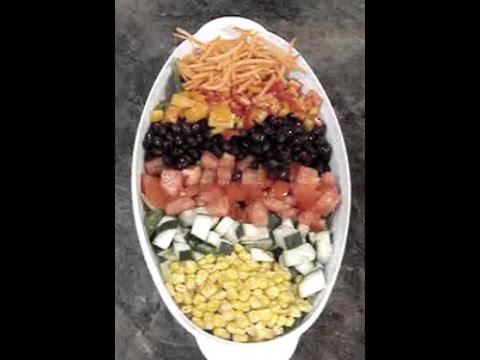 Vegan Cobb Salad with Cilantro Dressing