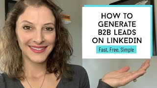 How to Generate B2B Leads on LinkedIn // LinkedIn Lead Generation for FREE