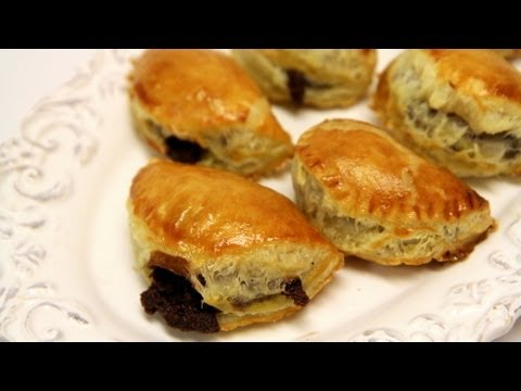 Chocolate Chaussons / Turnovers Homemade Recipe - CookingWithAlia - Episode 246