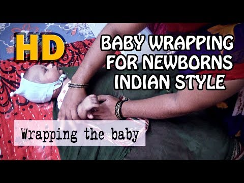 INDIAN BABY WRAPPING (SWADDLING) FOR NEWBORNS | बाळाला लपेटणे | HD | BABY LEO