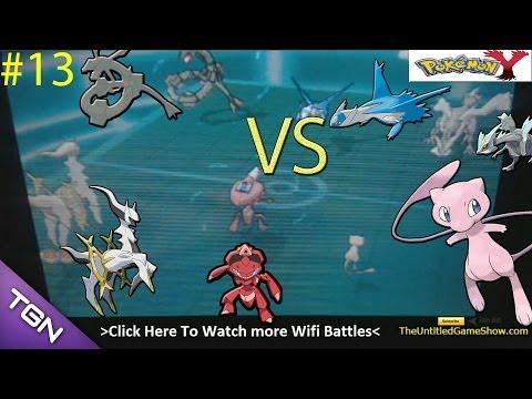 #1 Arceus Mew Shiny Genesect VS  Shiny Rayquaza, Pokémon X & Y WiFi Battle commentary  With T.U.G.S