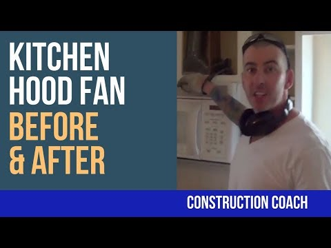 Kitchen Hood Fan Before and After!