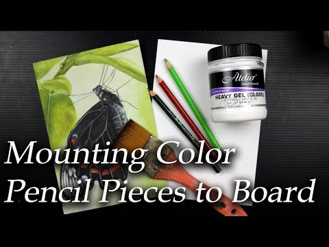 Protecting my color pencil art. Why I mount my paper to board and how I do it