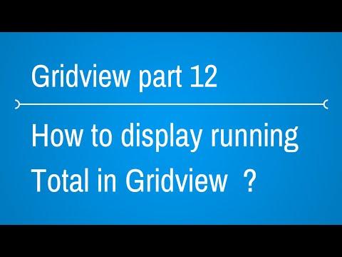 Gridview Tutorials - display total sum in gridview footer - Part 12