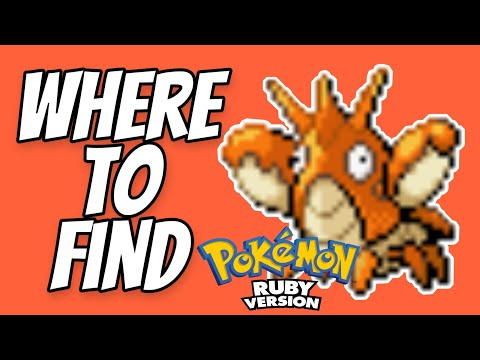 Where to find Corphish in Pokemon Ruby