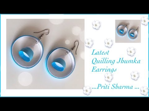 Easy And Simple Paper Quilling Jhumka Earrings / Quilling Jhumka Design   Priti Sharma