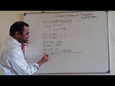 math trick for simplifying factorials of very large numbers