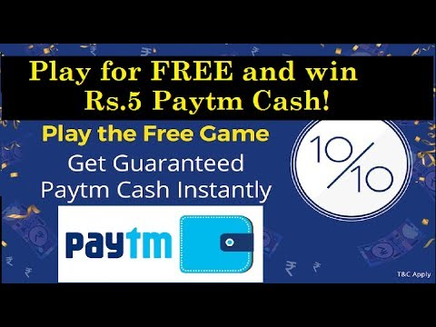 Quizwin Play for FREE and win Rs.5 Paytm Cash!