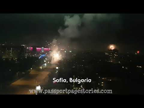 New Year 2018 Celebration Fireworks SOFIA, BULGARIA [ Passport Page Stories ]