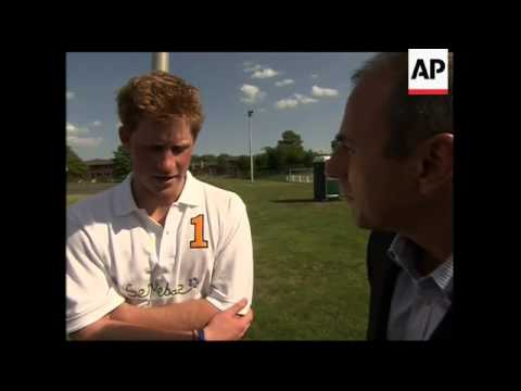 UK's Prince Harry says pilot training is tough
