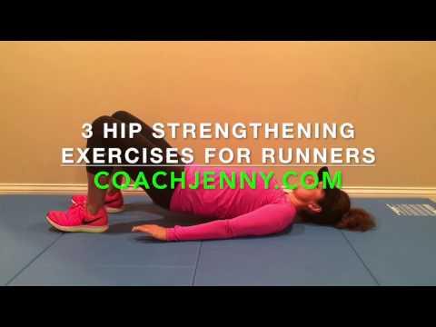 3 Hip Strengthening Exercises for Runners #CoachJenny