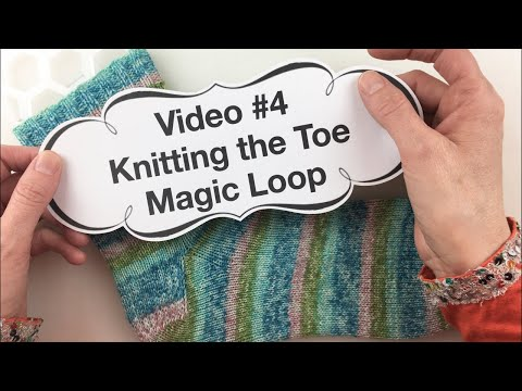 Learn to Knit Socks- #4: Knitting the Toe on Magic Loop
