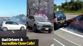 Bad Drivers And INCREDIBLE Close Calls Caught On Camera