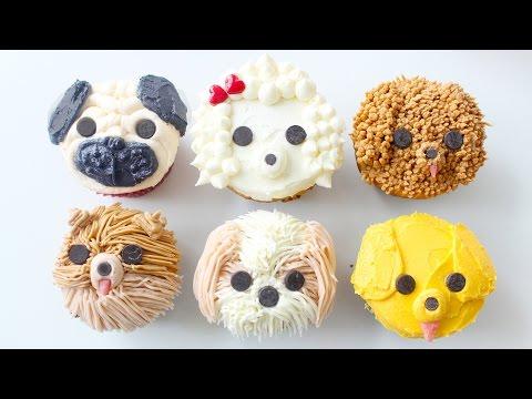 DIY DOG CUPCAKES - Pug, Pomeranian, Golden Retriever, Shih Tzu, Labradoodle & Poodle | RECIPE