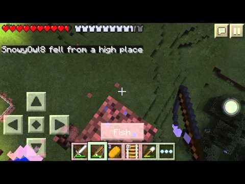 Fishing Rod Glitch Minecraft PE W/ SnowyOwl8!