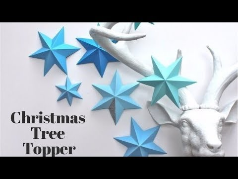 How To Make A Paper Christmas Tree Toppers!!