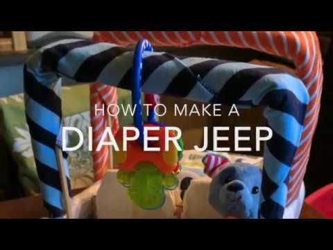 Tutorial: How to Make a Diapercake Jeep!