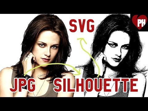 🔴 Photoshop tutorial: Convert jpg to silhouette and export as SVG