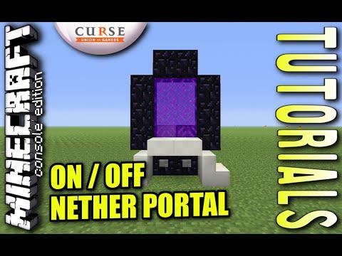 Minecraft - ON / OFF NETHER PORTAL - Tutorial ( PE / XBOX / PS4 / PS3 / WII U )