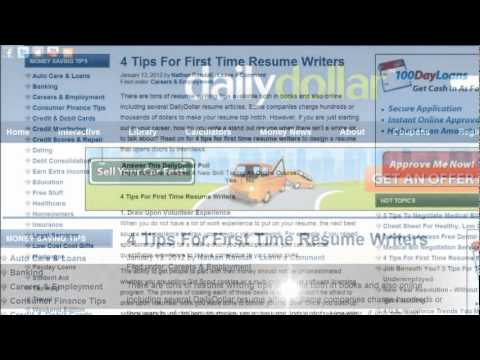 4 Tips For First Time Resume Writers
