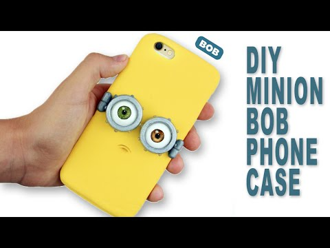 DIY | Minion Bob Phone Case Tutorial - Polymer Clay How-to