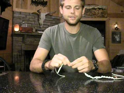 How to tie a single line braid to shorten rope. Great Survival Tip!