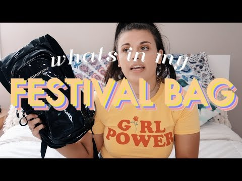 What's in my Bag: Festival Edition | Festival Essentials 2018