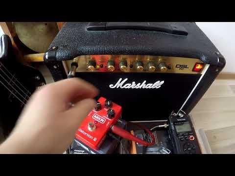 MXR distortion test Marshall dsl5c tascam dr 40mk2