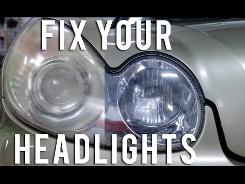 How to fix, restore and protect ALL faded, yellow and oxidized headlights (VIDEO-FULL PROCESS)