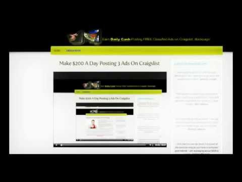 How To Make $200 A Day Posting Ads on Craigslist/Backpage -- Copy & Paste System