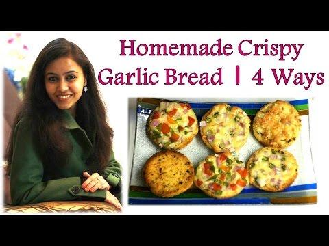 👌Homemade Garlic Bread & Butter Recipe |  4⃣ Different Ways | Pizza Hut Style | Quick & Easy Recipe